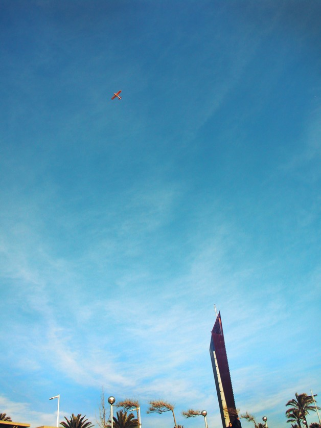 Aeroplane and sky - Barcelona, Spain