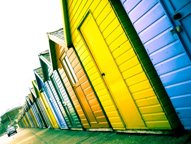 Wooden beach huts - Yorkshire coast