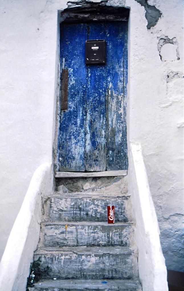 Old door and coke can - Ibiza, Balearics