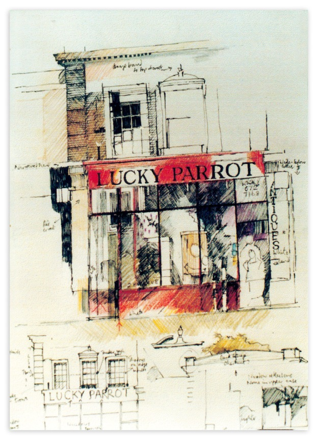 Lucky Parrot - building sketch