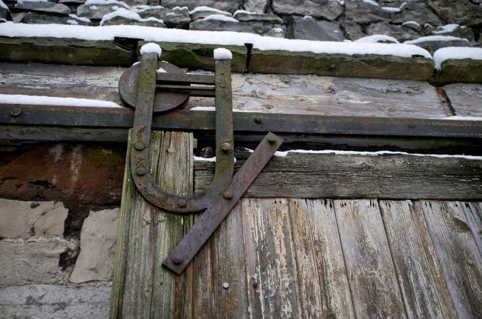 Old barn door hinge